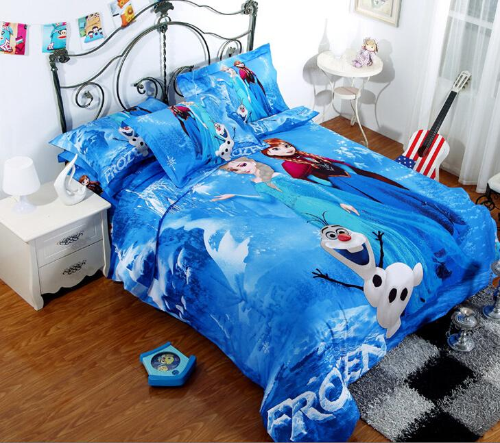 gro handel 100 baumwolle gefrorenes bettw sche elsa anna. Black Bedroom Furniture Sets. Home Design Ideas