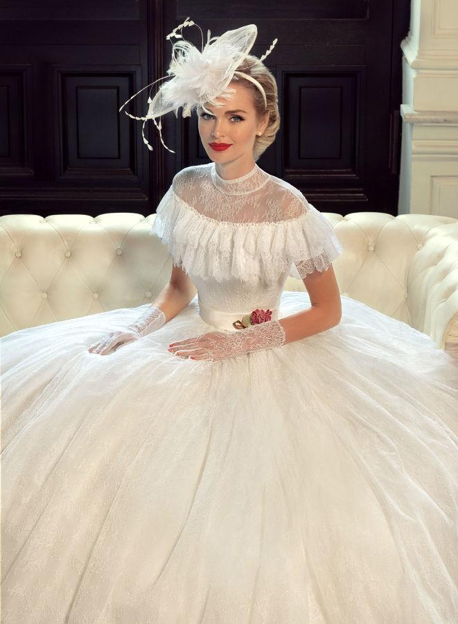 Modest Victorian Wedding Dresses Lace Ball Gown 2015 Custom Made ...