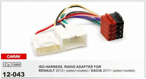Carav 12 043 Iso Radio Adapter For Renault Logan  Sandero