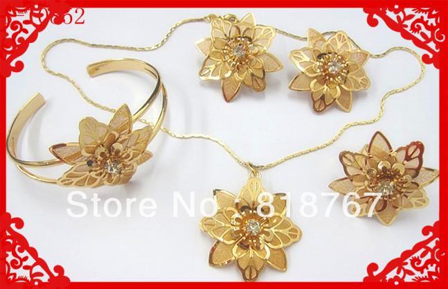 2018 Dubai Gold Jewelry Set Stylish Fake Gold Jewelry Set