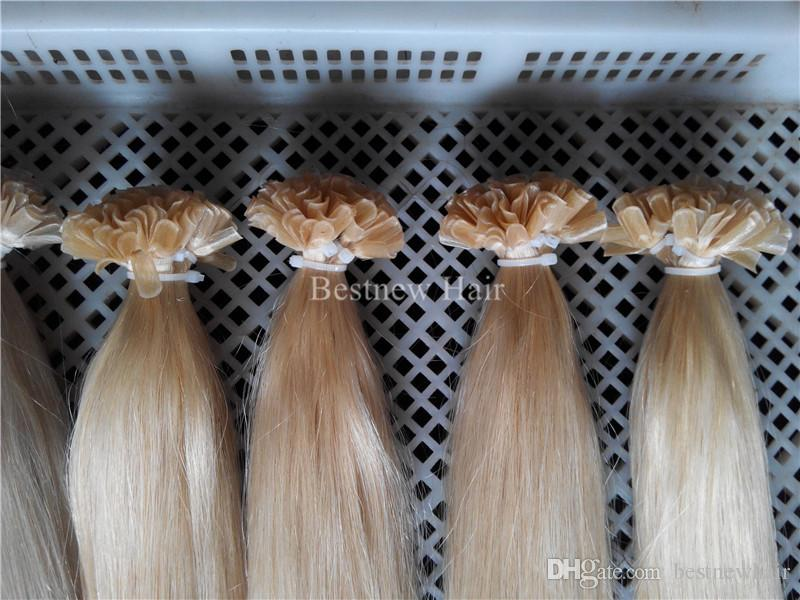 100g 18inch 20inch 22inch 24inch 1g/s Keratin U Tip Prebonded Hair Extensions Indian Remy Human Silk Straight Hair