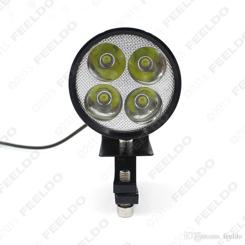 FEELDO 12V-85V Motocicleta universal E-bike 20W LED Lámpara de linterna modificada Negro # 1710