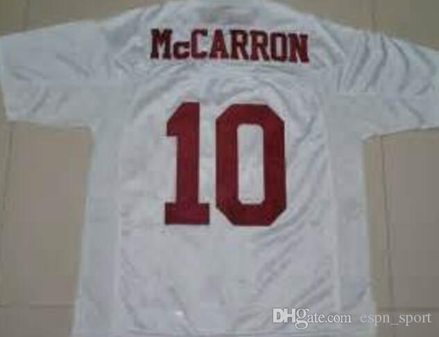 114471467 2019 Factory Outlet Alabama Crimson Tide  10 AJ McCarron Jersey White Red  Men S Ncaa College Authentic Stitched Football Jerseys 2014 New Mix Or From  ...