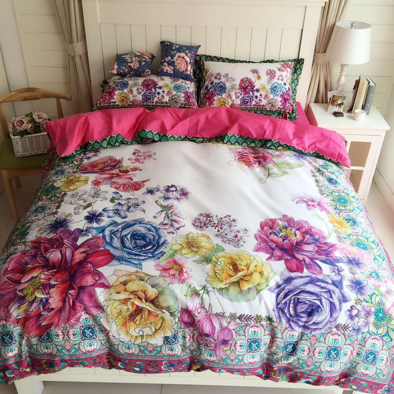 latest colorful bedding sets high quality egyptian cotton digital  - latest colorful bedding sets high quality egyptian cotton digital printedbed linens comfort home textiles queen king size bedding sets full comforterqueen