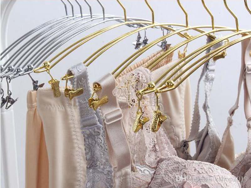 Metal Bra Clothes Hanger Hook Underwear Lingerie Panties Drying Rack With Clothespins Clip 28*14cm Home Organization