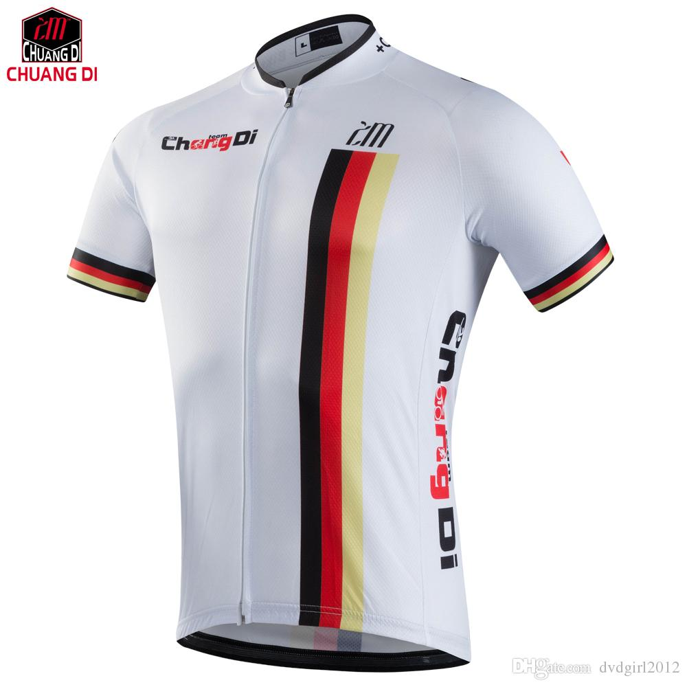 Sublimation Printing Cycling Jersey Wear Best 2018 Pro Polyester Cycling  Clothing Summer Men Quick Dry Bicycle Wear Sports T Shirts V Neck T Shirts  For Men ... 3b664c96f