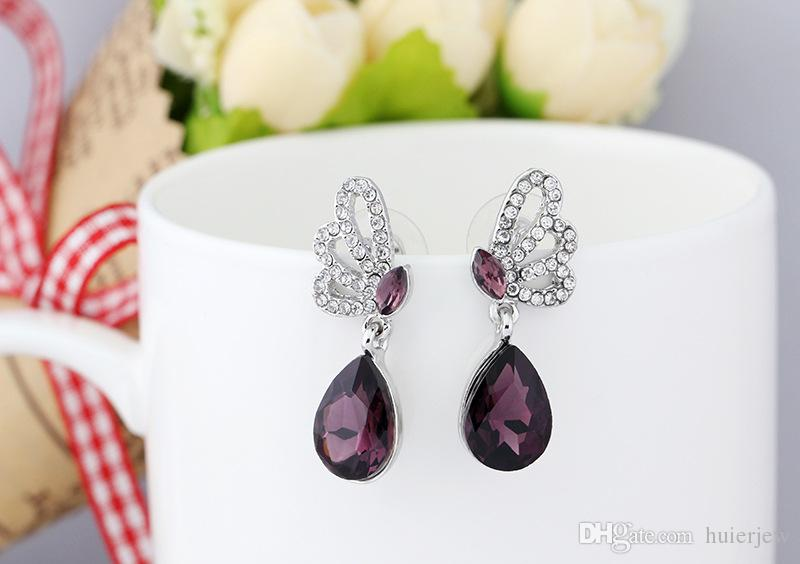 Bridesmaid Jewelry Set Earring Necklace Pendants Australian Crystal Jewelry African Fashion Indian jewellery set Party Jewelry Set