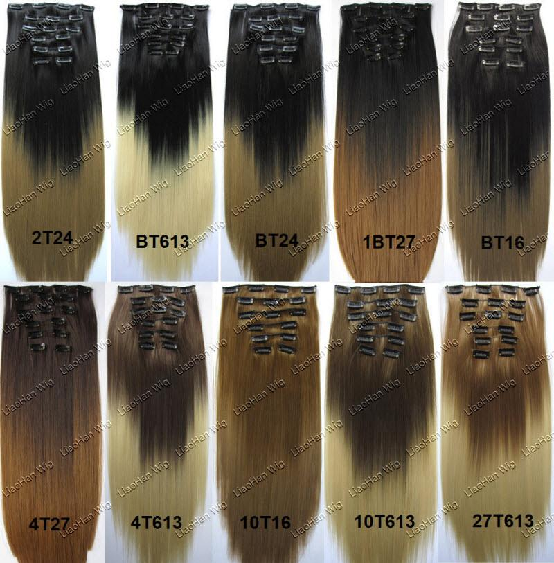 Straight long ombre clip in hair extensions dip dye high straight long ombre clip in hair extensions dip dye high temperature synthetic hair two tone clip in on hairpieces clips in hair extensions hair extension pmusecretfo Gallery