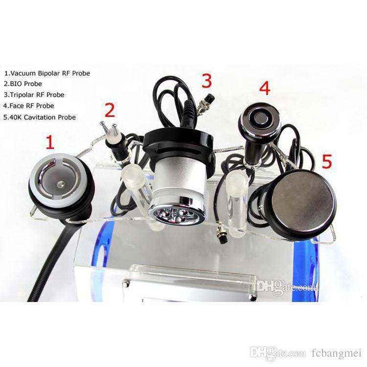 Ультразвуковая кавитация RF липосакции 5 in1 уменьшая машину потери веса красотки оборудования красотки кавитации RF вакуума машины