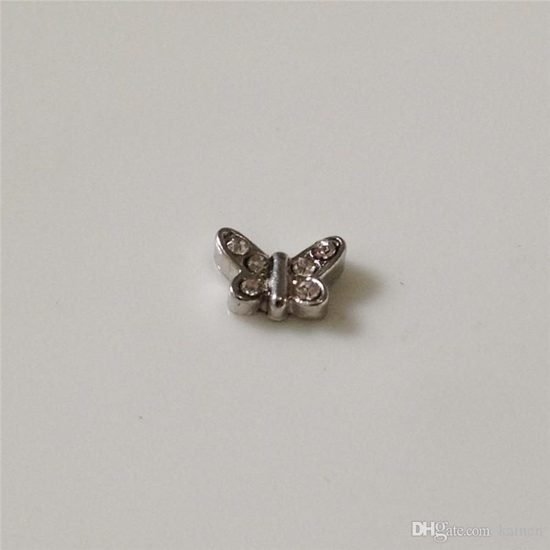 !! Butterfly Floating charms DIY Floating locket Charms Silvery Fit Floating lockets&Floating locket bracelets FC038