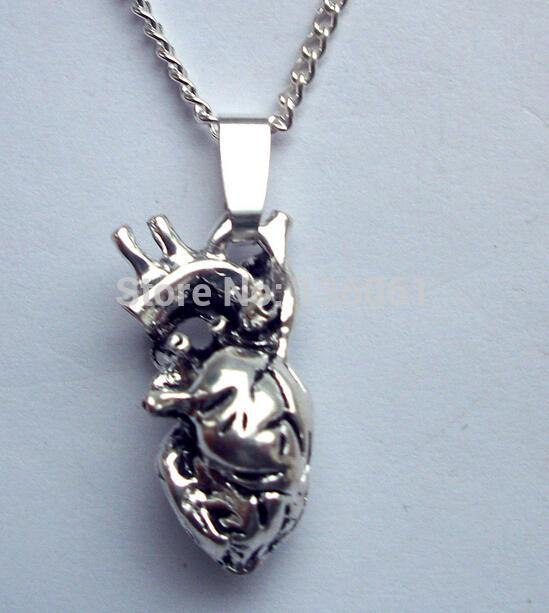 Wholesale Vintage Silver Anatomy Heart Organ Charms Statement Collar ...