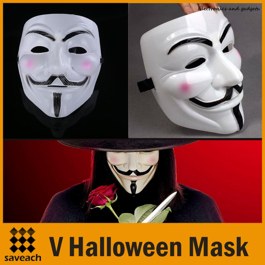 2015 New Arrival V Mask Vendetta Party Mask Halloween Mask Party ...