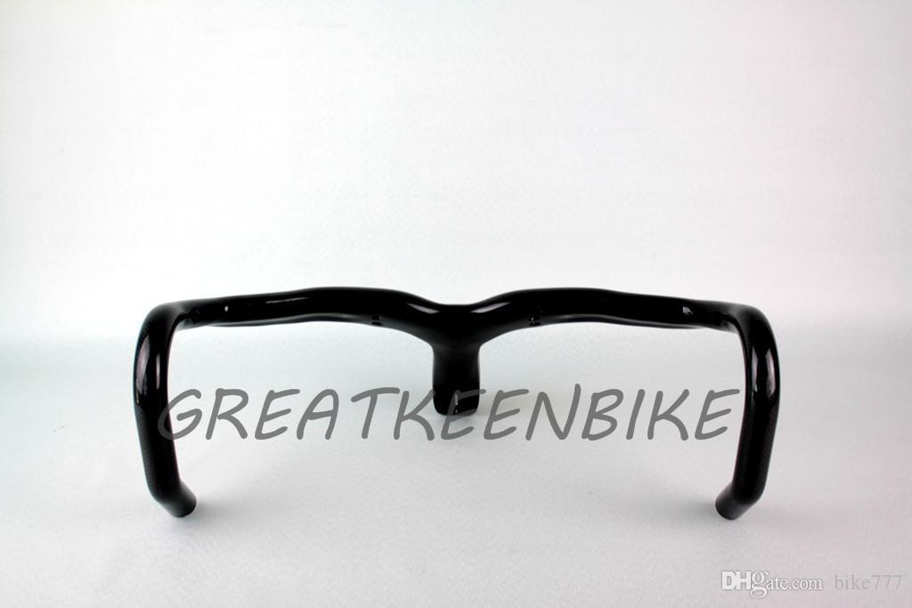 Guidon intégré en fibre de carbone pour vélo de route avec guidon en carbone