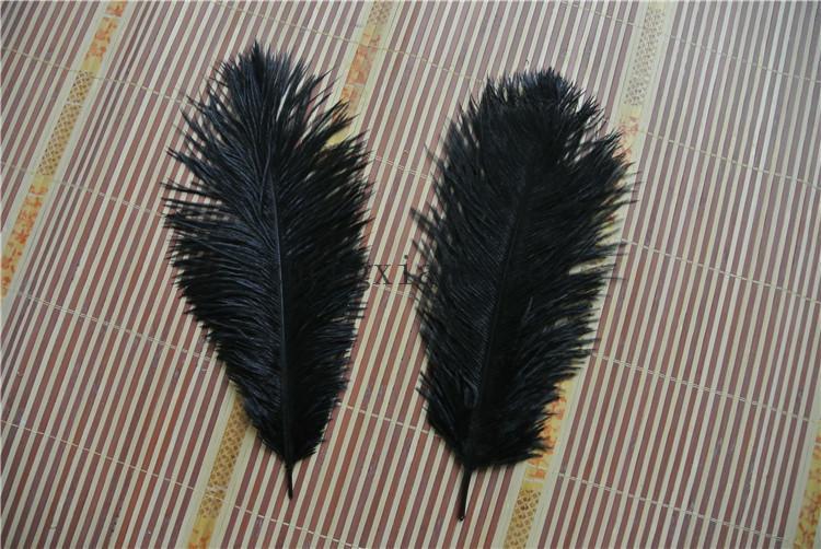 Präfekt natürliche Straußenfeder reine schwarze 10-12 Zoll Hochzeit Dekoration Hochzeit Mittelstück Eiffel Mittelstücke Party Event Versorgung Dekor