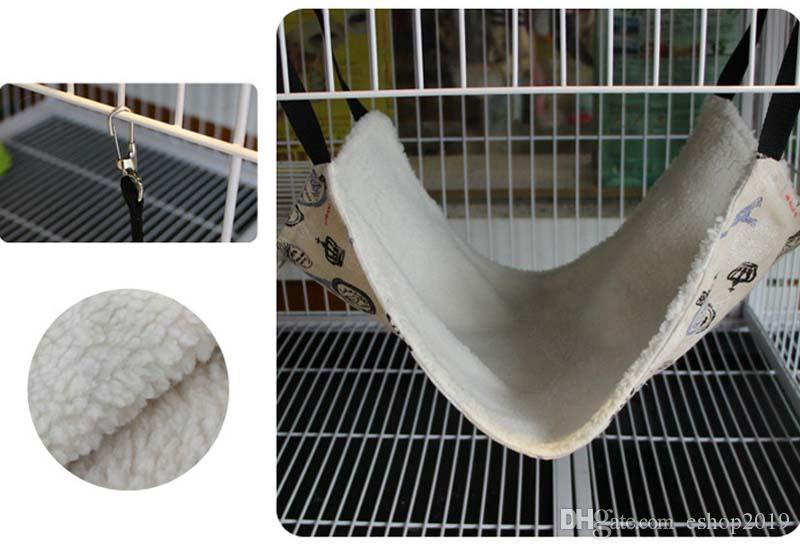 Polyester Rat Rabbit Chinchilla Cat Cage Hammock Pet Dog Puppy Bedding Cat Blanket Hanging Cat Hammock Pet Supplies Breathable Double-sided
