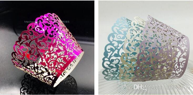 Искусство бумажный стаканчик торт обертка Cricut Lite кекс Упаковщики картридж Lace для держателя свадьба выпекание пирога WT03