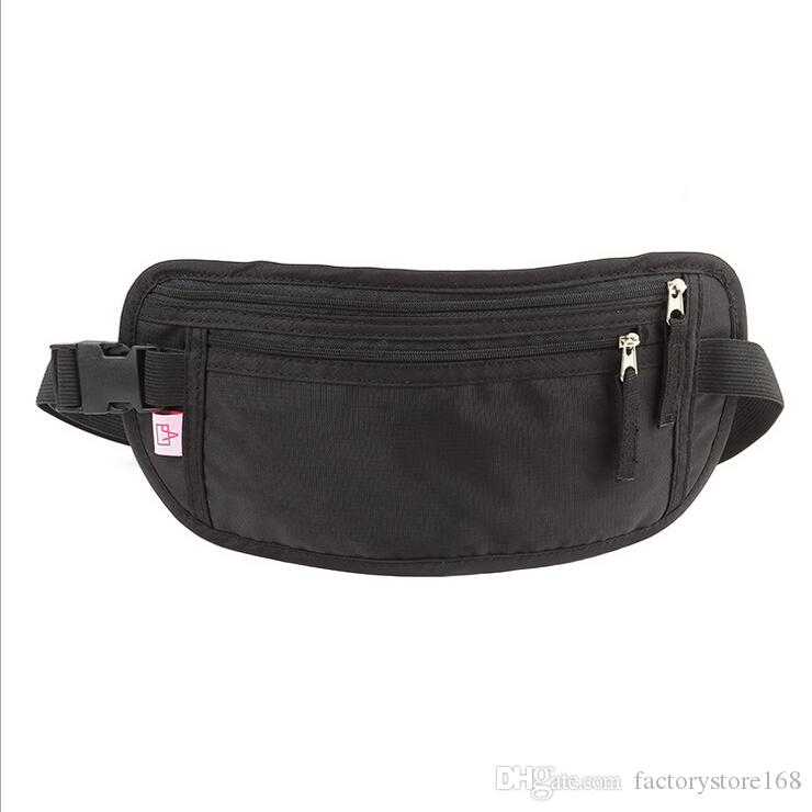 dd1ddb6ee9509 Ultra-thin Nylon funny pack waist pouch Outdoor sports running waist bags  anti theft best travel waist pack