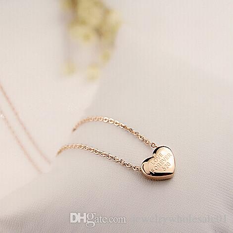 Wholesale charm heart necklace 14k rose gold titanium steel women wholesale charm heart necklace 14k rose gold titanium steel women jewelry pendent necklace for women chain necklaces pendants best friend necklaces rose aloadofball Image collections