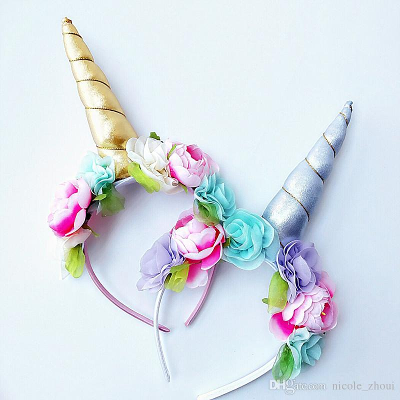 Christmas Baby Unicorn Horn Headband Glitter Flower Hairband Easter Bonus  DIY Hair Decorative Accessoriess For Party Pearl Hair Accessories Hair  Accessories ... 00090f3722f