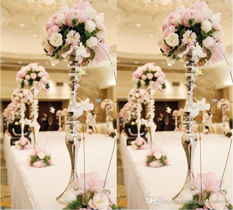 Upscale Wedding Candle Holder 30 35 45cm 110cm Silver