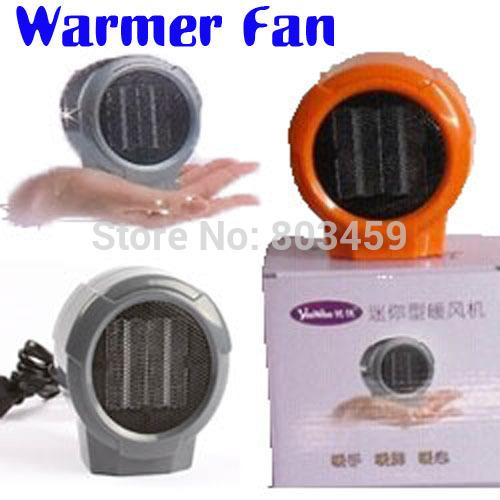 mini portable personal ceramic space heater electric heaters 220v 110v warmer fan forced grey orange a3