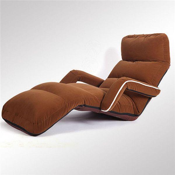 Bequemes Boden-faltendes Sofa-Klubsessel-Lehnsessel-Wohnzimmer-Möbel-modernes gepolstertes justierbares Daybed-Lagerschwellen-Sofa-Bett Recliner