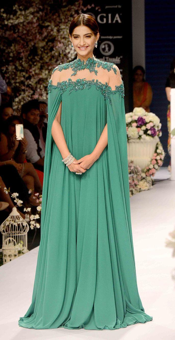 Hunter Green Abaya Turkish Evening Gowns High Neck Appliques ...