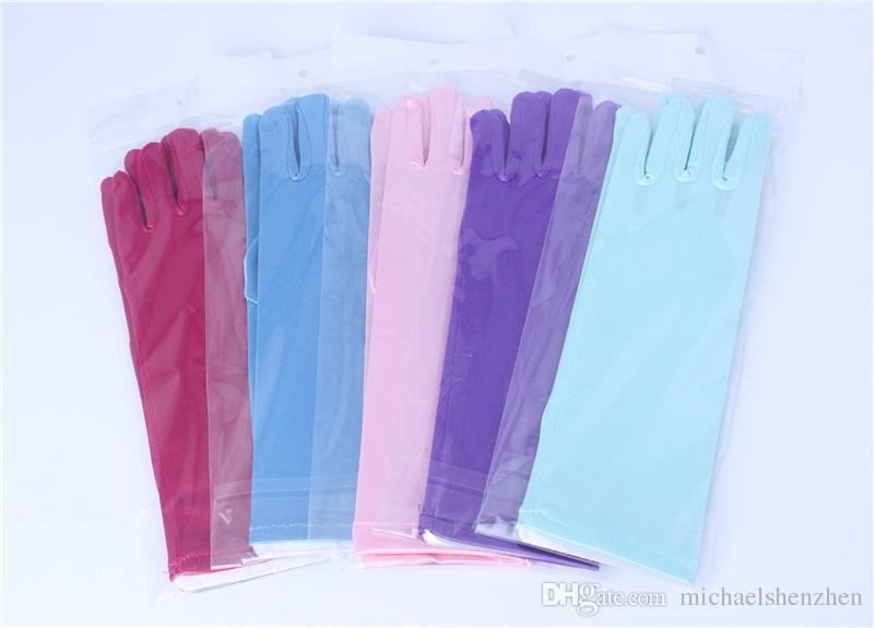 Cartoon Girls Long Gloves 2015 NEW children Frozen Elsa anna Cinderella Princess Girls Ladies Fancy Gloves B001