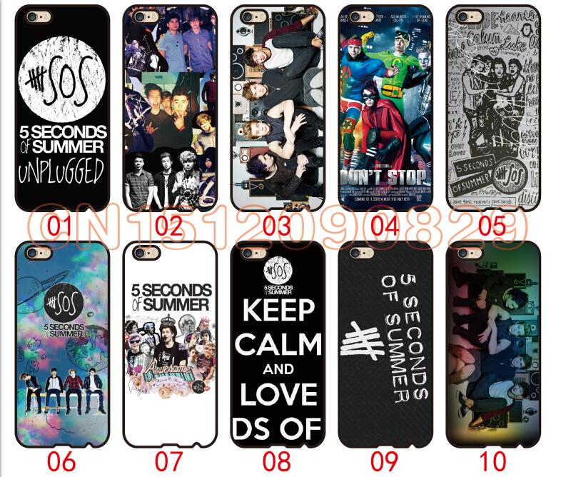 seconds of summer For iPhone 6 6S 7 Plus SE 5 5S 5C 4S iPod Touch 5 For Samsung Galaxy S6 Edge S5 S4 S3 mini Note 5 4 3 phone cases