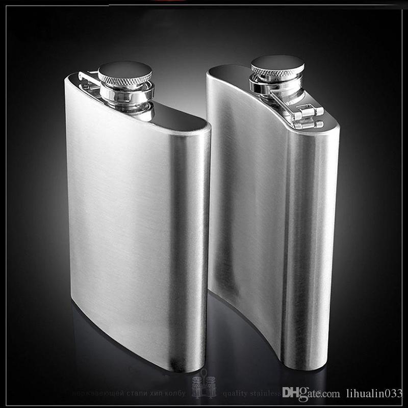 Hohe Qualität Portable Edelstahl Flachmann Flagon Wein Whisky Pot Bottle Drink für Trinker Alkohol Alkohol Schraubverschluss