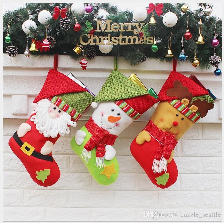 New Arrive Non Woven Fabric Christmas Stocking Gift Bags Christmas ...
