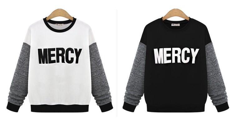 2018 new 2015 women fashion moleton feminino plus size mercy