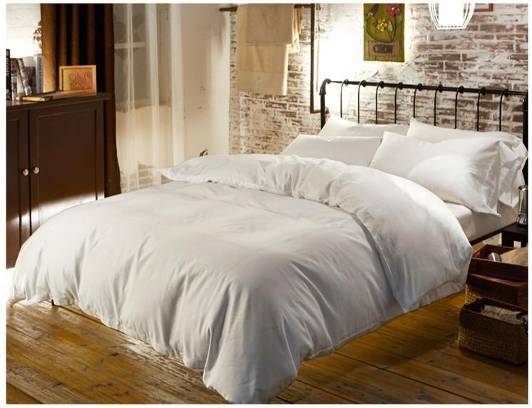 26422dd3d Luxo 100% conjuntos de cama de algodão Egípcio lençóis rainha capa de  edredão Branco king size cama de casal em um saco de roupa de cama colcha  do lençol ...
