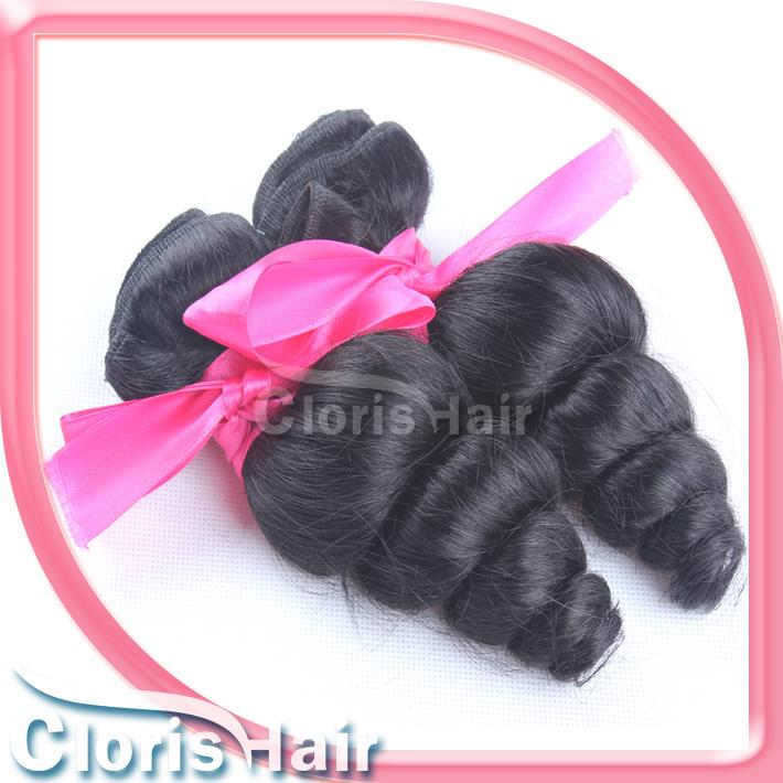 Salon Grade Loose Wave Peruvian Virgin Hair Bouncy Curly Remy Human Hair Extensions Wholesale 1 Bundle Peruvian Loose Curl Weft For Sale