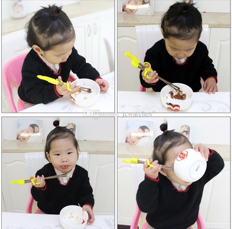 Baguettes pour enfants mignons avec coffret enfants bébé en bois Cartoon apprentissage apprentissage baguettes maison produits pour bébé