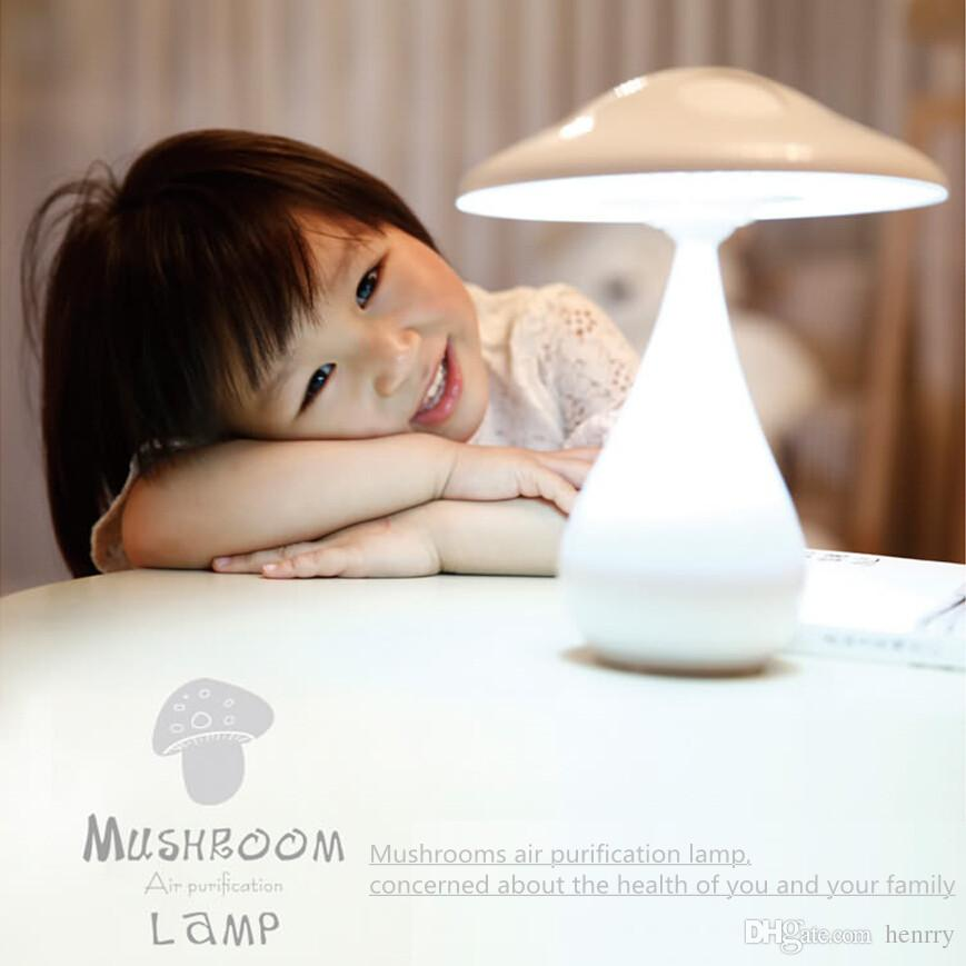 Mushrooms air purifier lamp, mushroom innovative new table lamps, desk lamp bedside lamp nightlight child, negative ion purifier Nightlight