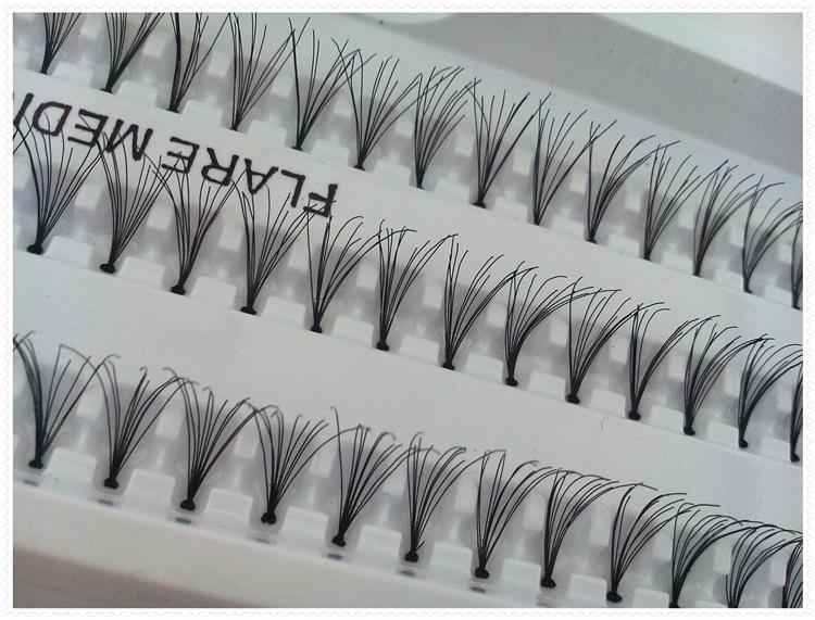 False Eyelashes 12mm Individual Lashes Extension Gorgeous Charming Eyelash Handmade Fake Eyelashes Flare Black Lashes Eyes Makeup