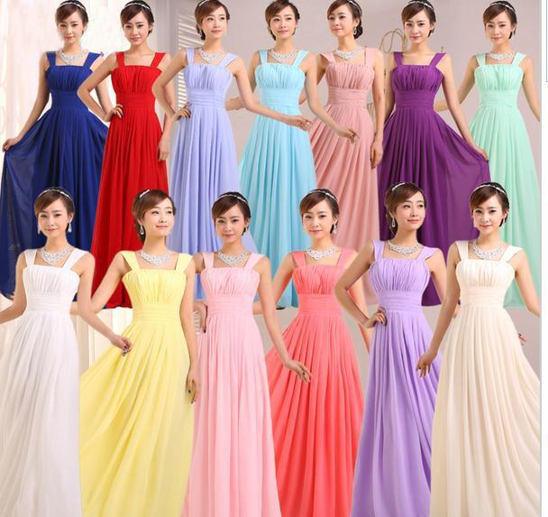 2016 Cheap Bridesmaid Dresses Long Chiffon Bridesmaids Dresses For ...