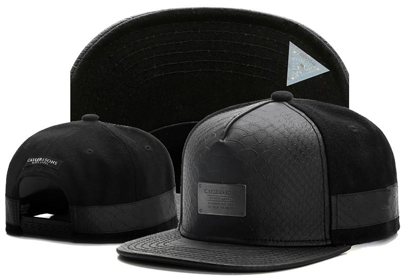 592fb24f8 black Cayler & Sons Snapback hats leather front cotton baseball snapback  hats and caps bones for men women sports hip hop caps TYMY 411