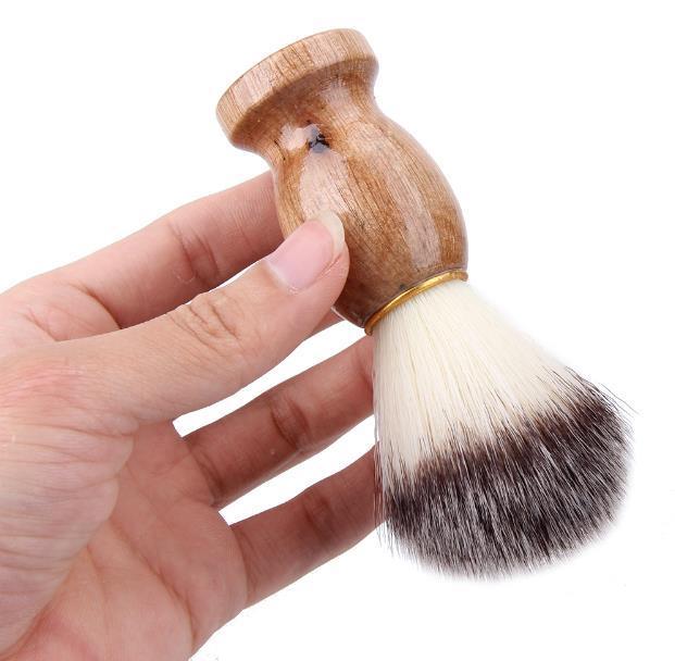 Badger Hair Escova de Barbear dos homens Barber Salon Homens Barbear Facial Aparelho de Barbear Ferramenta de Limpeza Navalha Escova com Cabo de Madeira para homens