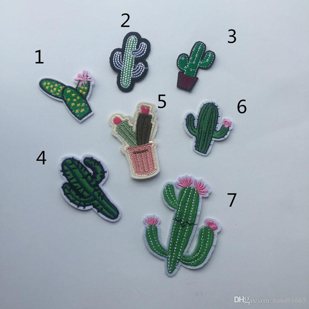 2018 New Cactus Embroidered Cloth Paste Embroidery Wholesale Custom