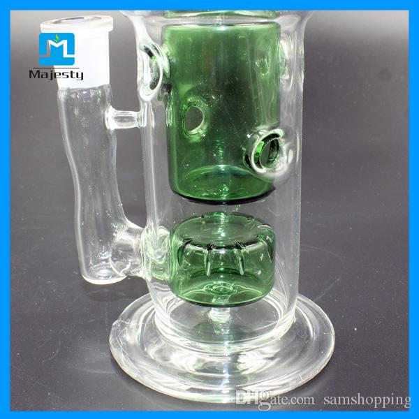 Cool Bongs 2015 Recycler Oil Rigs 8 Inch 210mm Height Female 14mm Water Bong Smoking Pipes Hookah Glass Bong Smoking Water pipes