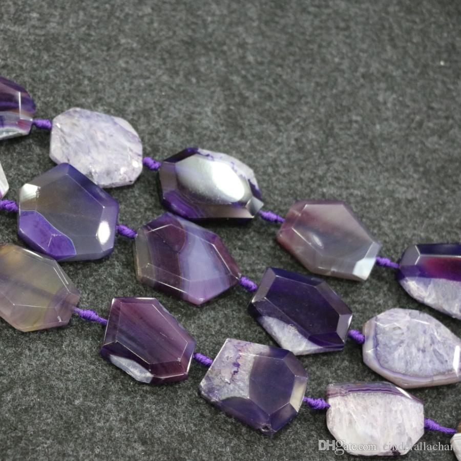 Purple Druzy Agate Gemstone Beads, Natural Slice Slab Drusy Druzy Agate Necklace Pendant Connector Jewelry Make Cheap Wholesale Price