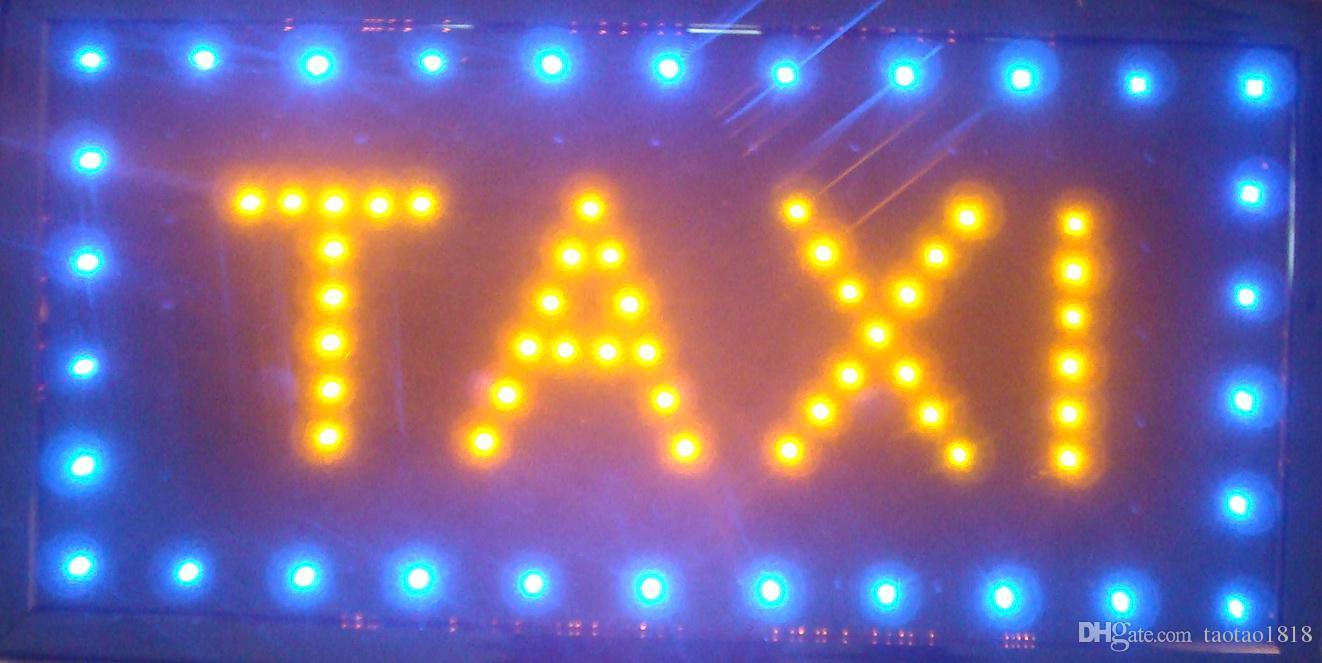 2016 LED Taxi Zeichen Direktverkauf customed Low Power 10X19 Zoll Semi-Outdoor Ultra Bright laufenden Taxi führte Neon offenen beleuchteten Zeichen