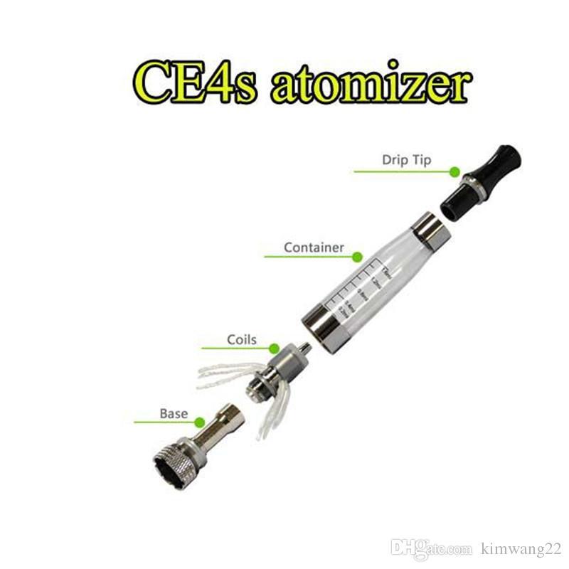 Melhor Ego CE4 Plus Atomizador para e cigarro kit CE4 + cigarro eletrônico líquido vaporizador Clearomizer substituir bobina