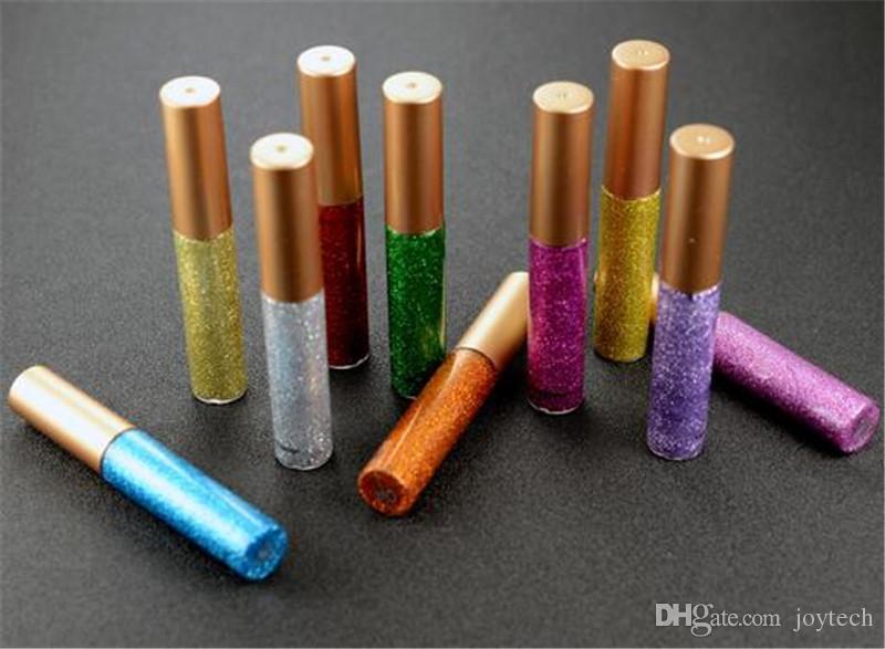 أقلام تحديد العين سائل للماكياج بريق لامع لامع لامع لامع ظلال العيون مع 10 ألوان للاختيار