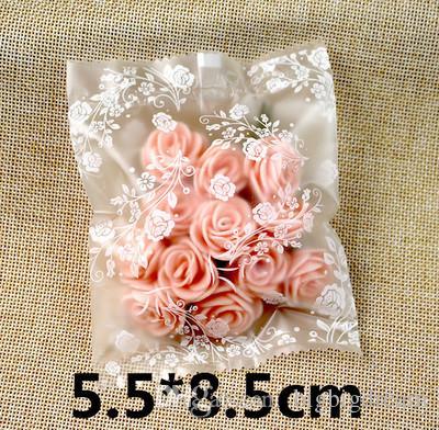Neue kleine weiße Rosen der DIY / öffnen Spitzenimbissbeutel / reizende Kekse Brot-Plätzchen-Geschenk-Beutel 4 Größen Großverkauf