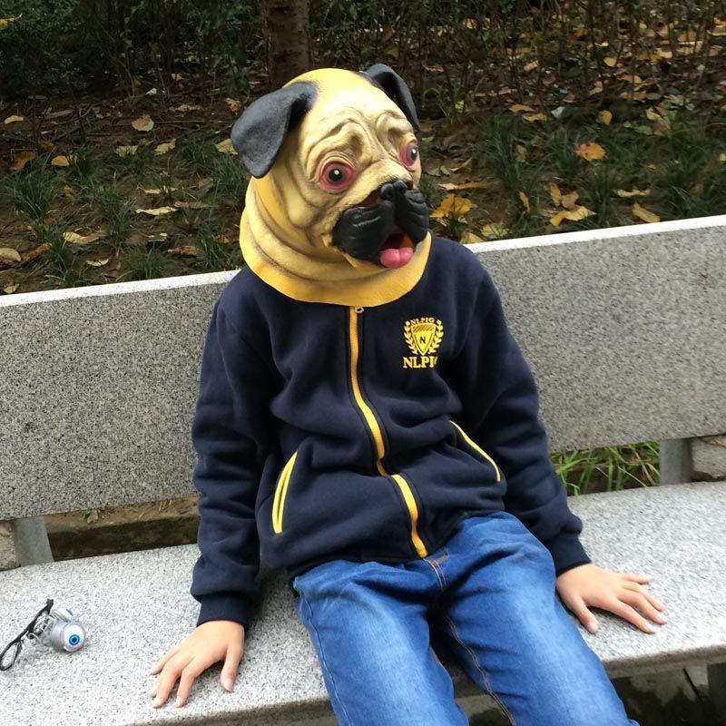 Nouveau Bulldog Masque En Latex Plein Tête Masque Animal Cosplay Parti Costume Fabricant vente livraison gratuite