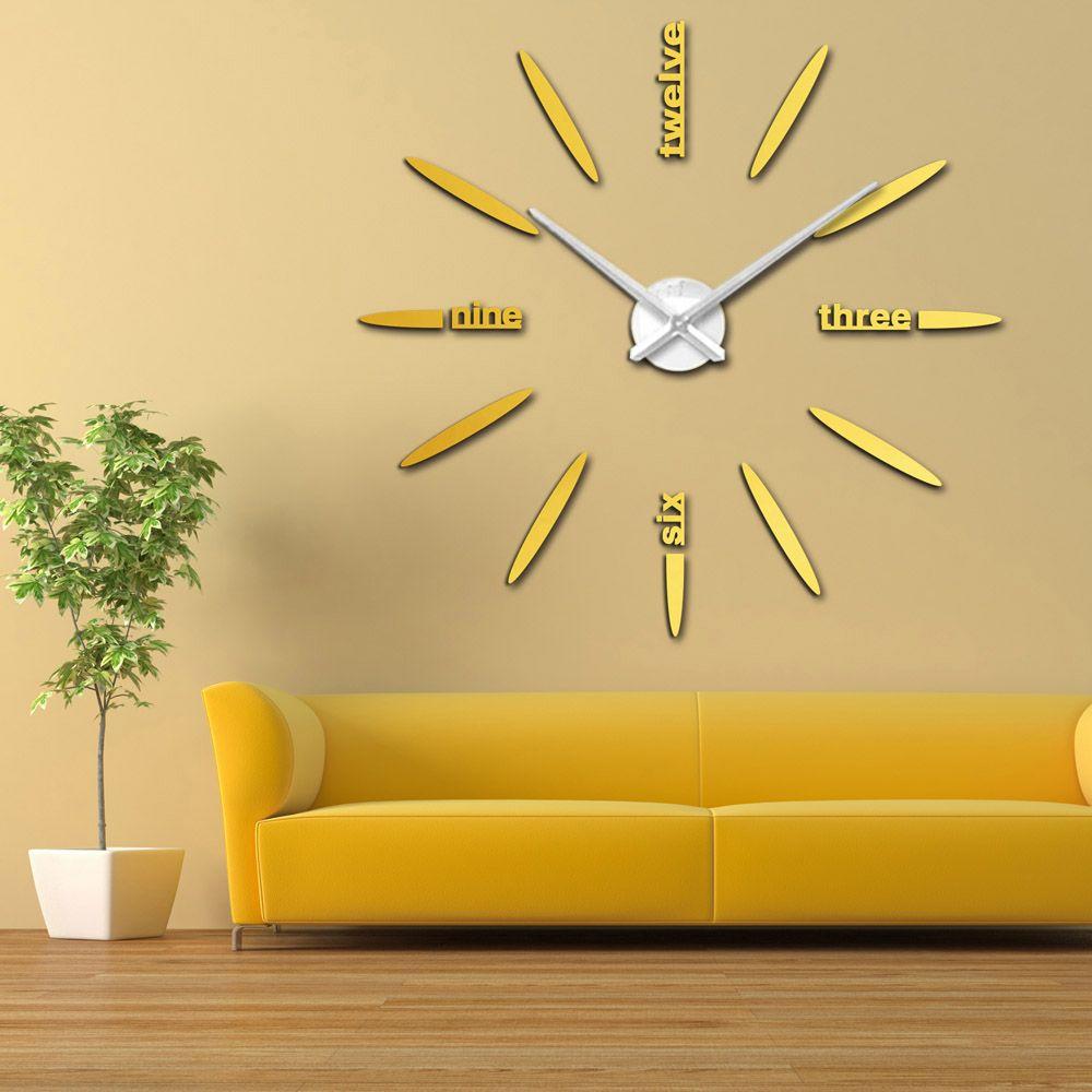 Diy Large Watch Wall Clock Modern Design
