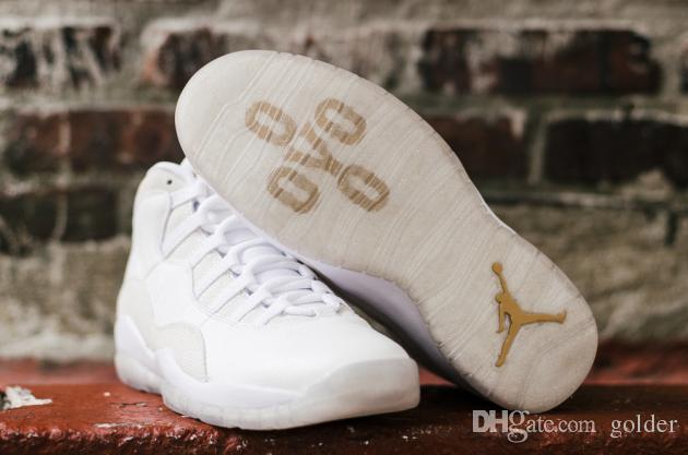 hot sales 908b3 c1d0a 2019 Nike Aie Jordan 10 Drake X Air Jordan 10 OVO Mens Retro 10s Basketball  Shoes Trainers PE White Gold From Golder,  167.52   DHgate.Com